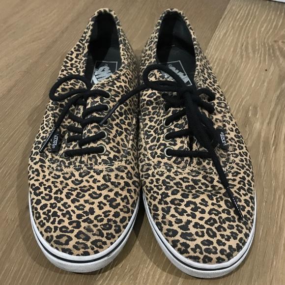 6240eef5c03319 Women s leopard print Vans authentic lo pro 9.5. M 5bc03612de6f62a9fa2de286